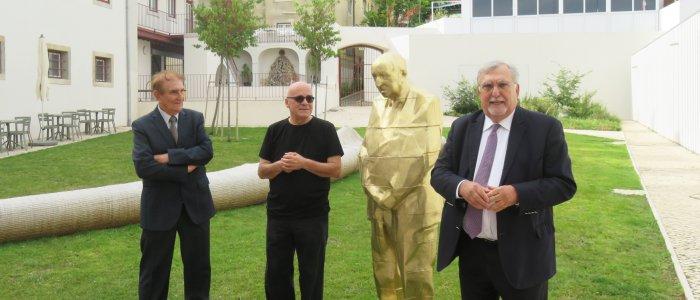 Apresentação da estátua de Eduardo Lourenço por Leonel Moura