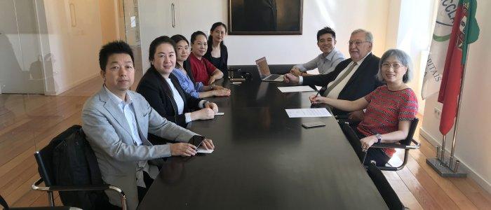Reunião com delegação da empresa Skigroup