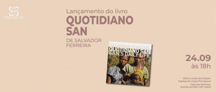 """Apresentação do livro """"Quotidiano San"""" na UCCLA"""