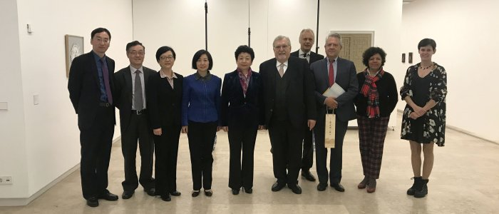 Reunião com a delegação da província de Jiangsu