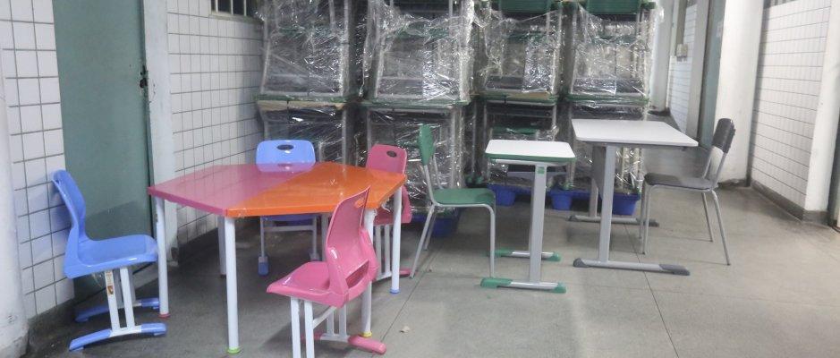 Renovação de equipamento escolar no Rio de Janeiro