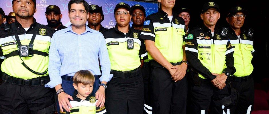 Uso de câmaras corporais pelos agentes de trânsito de Salvador