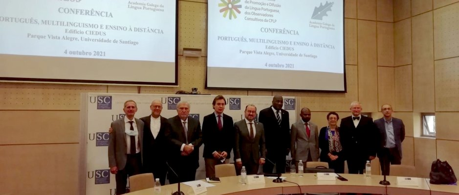 """Conferência """"Português, multilinguismo e ensino à distância"""""""
