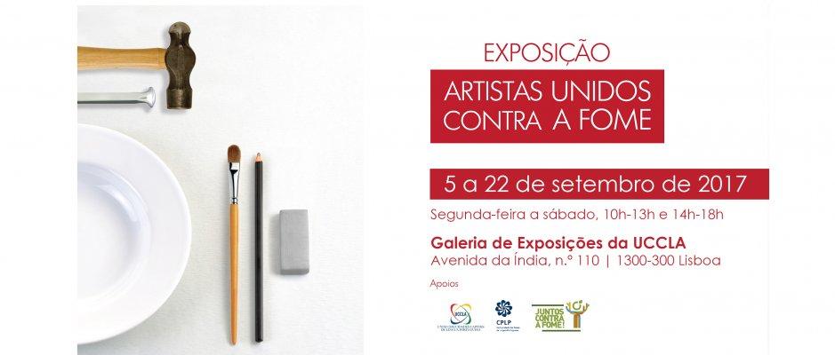 """Inauguração da exposição """"Artistas Unidos contra a Fome"""" na UCCLA"""
