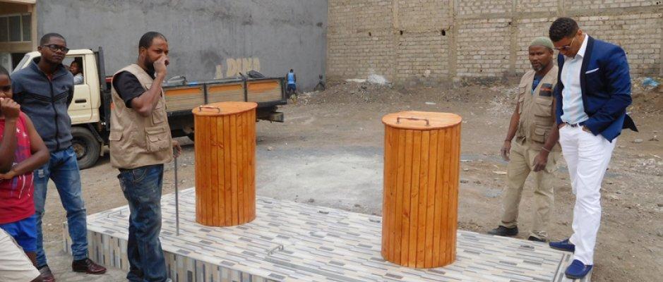 Instalação de contentores subterrâneos na cidade da Praia para resolver problema do lixo