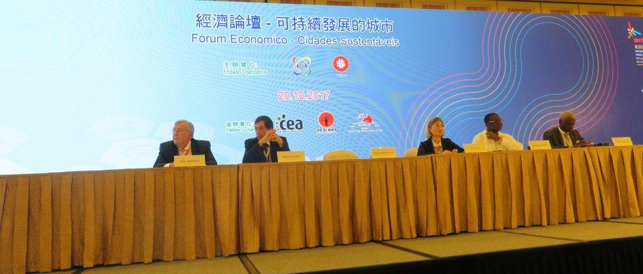 """UCCLA promoveu Fórum Económico """"Cidades Sustentáveis"""" em Macau"""