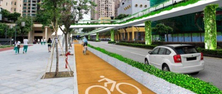 Projeto de ciclovias para centro da Taipa