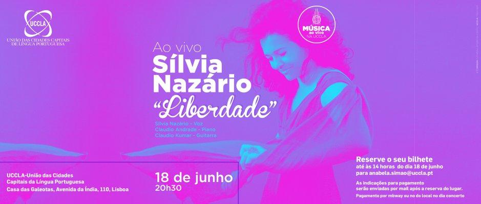 Sílvia Nazário ao vivo no palco da UCCLA
