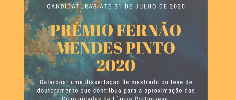 AULP abre candidaturas ao Prémio Fernão Mendes Pinto 2020