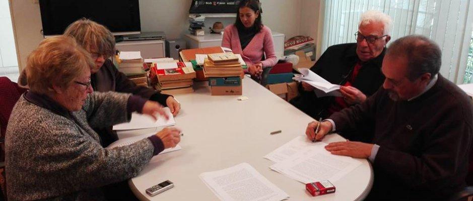 Protocolo de depósito da documentação referente à Casa dos Estudantes do Império na Fundação Mário Soares