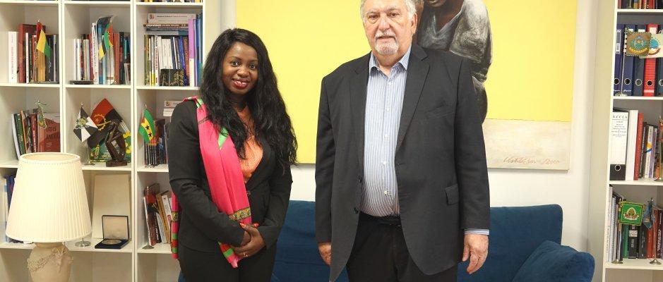 Encontro com representantes do Instituto de Promoção da Cultura Guineense na Diáspora