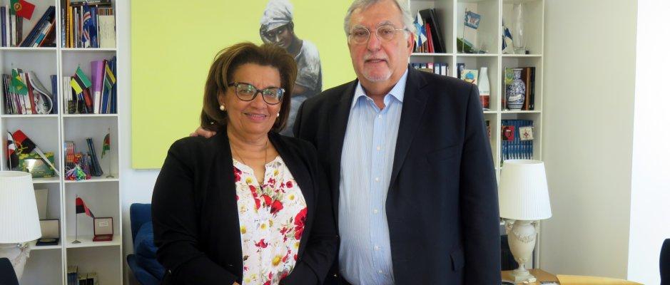 Visita da vereadora Maria Aleluia Andrade
