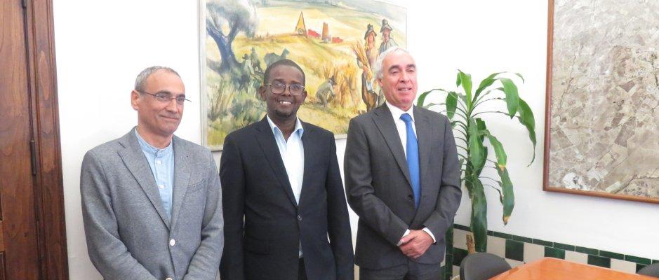 Visita do Presidente da Ilha de Moçambique a Évora