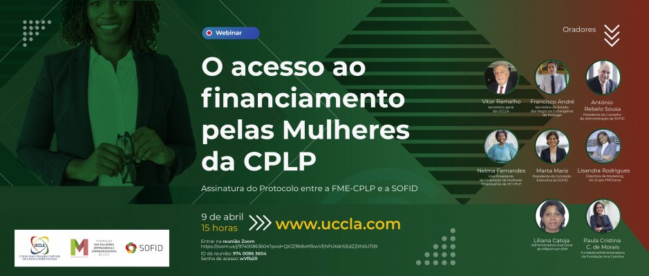 """Webinar """"O acesso ao financiamento pelas Mulheres da CPLP"""""""