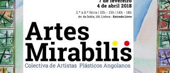 """Inauguração da """"Artes Mirabilis - Coletiva de Artistas Plásticos Angolanos"""""""