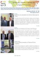 Notícias UCCLA - N.º 38 - 25 de Agosto de 2017