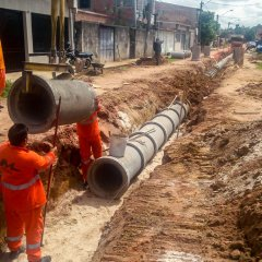 Diversos bairros de Belém recebem obras de drenagem