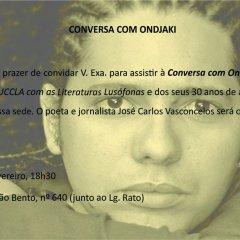 Encontro com as Literaturas Lusófonas - UCCLA recebe Ondjaki