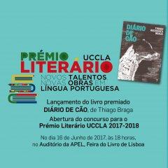 Prémio Literário UCCLA - Apresentação da obra vencedora da 2.ª edição e lançamento da 3.ª edição