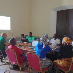 Encontro com técnicos de cobrança na Ilha de Moçambique