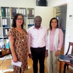 Reunião com presidente do Conselho Municipal de Nampula na UCCLA