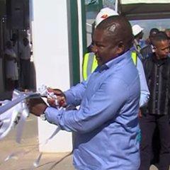 Inauguração de terminal de garrafas de gás doméstico