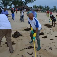 Campanhas de limpeza em Nampula
