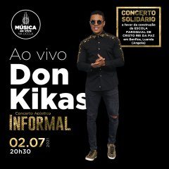Concerto solidário de Don Kikas na UCCLA