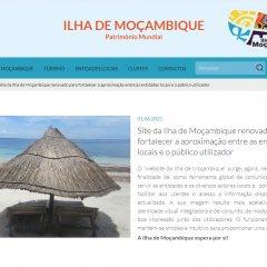 Ilha de Moçambique com website renovado