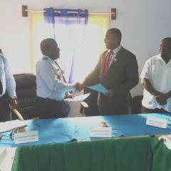 Câmara de Água-Grande e Polícia Nacional assinam protocolo para reorganização da cidade